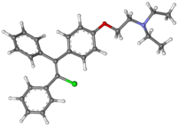 Clomifene 3D Molecular Structure